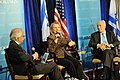 Secretary Clinton Participates in a Joint Discussion With Israeli President Peres (7367264012).jpg