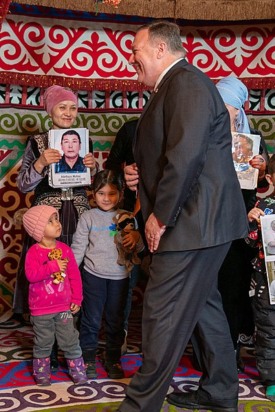 Secretary Pompeo Meets With Family Members of Ethnic Kazakh-Chinese in Xinjiang (49475859558).jpg
