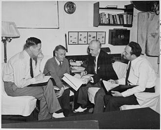 Charles E. Bohlen - Secretary of State James F. Byrnes support consults with the advisors in preparation for the Potsdam Conference in Germany.