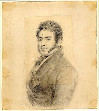 Ramsay Richard Reinagle - Self-portrait in graphite by Ramsey Richard Reinagle