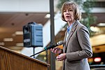 Senator Tina Smith speaking at an event in support of DACA at Hennepin County Government Center Minneapolis, MN (25692552258).jpg