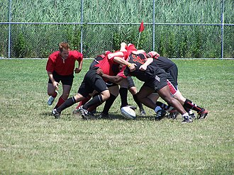Scrum (rugby) - Scrum in sevens