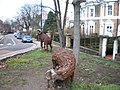 Sheep Sculptures in Grove Lane SE5 - geograph.org.uk - 1721176.jpg