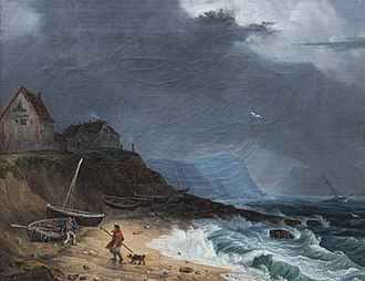 Charles Catton the younger - Landscape by Catton of 1794 – Sheringham beach, Norfolk