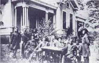 Rome, Georgia - Vandever and his officers in Rome (1864, on East 4th Ave)