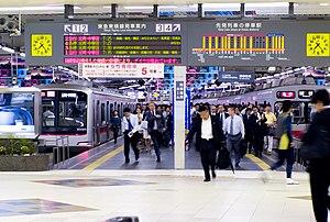 Tōkyū Tōyoko Line platforms