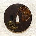 Shoki and Demon, tsuba, Japan, Senkatsusai Mirochika, iron, copper, sentoku (copper, tin, and zinc alloy), gold - Peabody Essex Museum - DSC07448.jpg