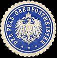 Siegelmarke Der Feld - Oberpostmeister W0228606.jpg