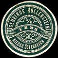 Siegelmarke Gemeinde Hollenstein an der Ybbs - Nieder Österreich W0308041.jpg