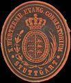 Siegelmarke K. Württemb. Evang. Consistorium Stuttgart W0350005.jpg