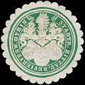 Siegelmarke Stadtr. Zittau Revierverwaltung Oybin W0385898.jpg