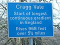 Sign for Cragg Vale gradient - geograph.org.uk - 1516646.jpg