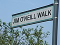 Sign for JIM O'NEILL WALK - geograph.org.uk - 400313.jpg