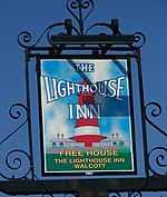 File:Sign for the Lighthouse Inn, Walcott - geograph.org.uk - 772231.jpg