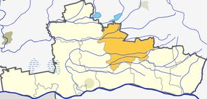 Šimkaičiai - Image: Simkaiciu seniunija (Jurbarko rajono zemelapis)