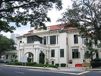 Singapore Cricket Club - The Singapore Cricket Club's clubhouse on Connaught Drive