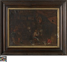Singerie in een kunstkamer