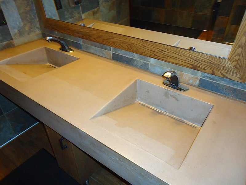 File:Sink design in men's bathroom at a restaurant in Maryland.JPG