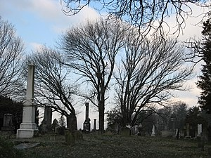 Abingdon Historic District - Sinking Spring Cemetery, a contributing property to the district