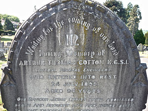 Arthur Cotton - Tombstone of Sir Arthur Cotton