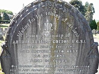 Arthur Cotton - Tombstone of Sir Arthur Cotton