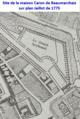 Site de la maison Caron de Beaumarchais sur plan Jaillot de 1775.png