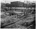 """Site where the US Post Office was built in Kinston, NC. Date of this photo is 16 April 1915. View from what will become the back of the Post Office looking """"through"""" the building area towards the (9614118541).jpg"""