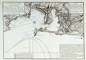 Mapo de la hispana grandurbo de Kadizo