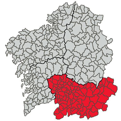 Situacion Provincia de Ourense