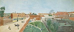 1855 in Sweden - Sjöberg Högbergsgatan 1850-tal sommar