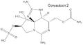 Skeletal formula of Gonyautoxin 2.png