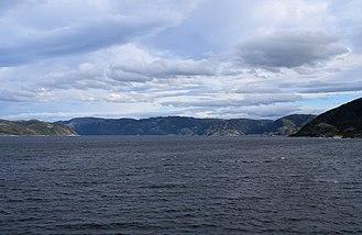 Roan, Norway - View of the Skjørafjorden along the Roan coast