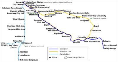 Skytrain system map
