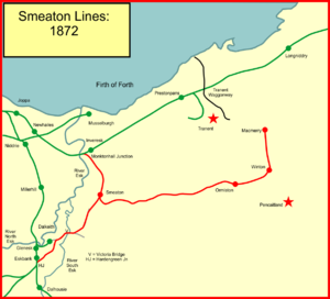 The Smeaton railway branches of the Lothians - The Smeaton lines in 1872
