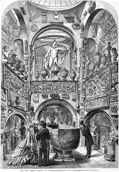 Soane The Sarcophagus Room ILN 1864