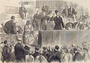 National Association for the Promotion of Social Science - At the 1865 Social Science Congress in Sheffield, the Parsi reformer Manockjee Cursetjee speaks on female education in India