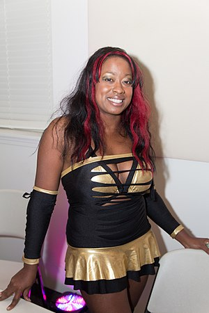 Josette Bynum - Bynum as Sojo Bolt at an independent wrestling show in August 2013