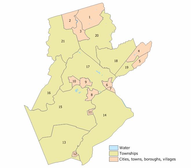 Somerset County, New Jersey Municipalities