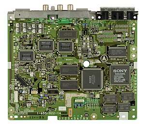 PlayStation technical specifications - An SCPH-1000 motherboard.