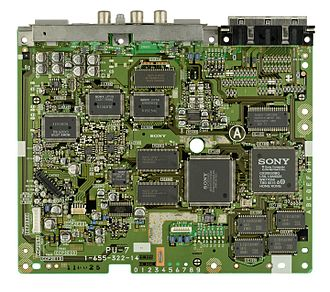 PlayStation technical specifications - An SCPH-1000 motherboard