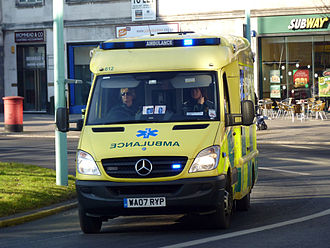 South Western Ambulance Service - SWAST ambulance on an emergency call