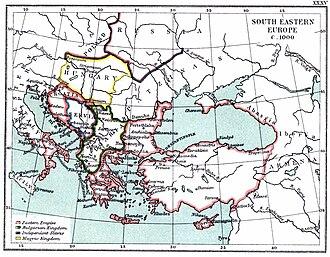 Byzantine conquest of Bulgaria - Territory of Byzantium and Bulgaria around 1000