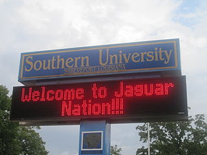 Southern University at Shreveport - Southern University at Shreveport welcoming sign
