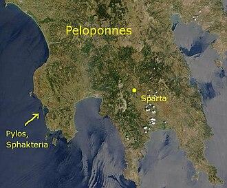 Battle of Pylos - Image: Sphakteria