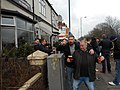 Spilling the Beer, The Terrace Pub before the match,27 February 2016.JPG