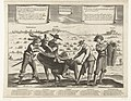 Spotprent op de Spanjaarden na het verlies van Breda, Thionville, Perpignan, Portugal en Catalonië, 1643 L'Espagnol Despouillé (titel op object), RP-P-OB-81.527.jpg