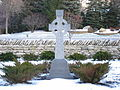 St. Brigid of Kildare Parish (Dublin, Ohio), exterior, Celtic cross.jpg