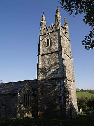 Grade I listed buildings in West Devon - Image: St Nonna's church, Bradstone geograph.org.uk 427446
