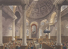 The Interior Of St Stephen Walbrook In The Early 19th Century. Amazing Pictures
