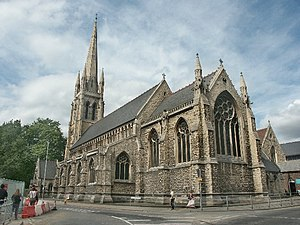 St Swithin's Church, Lincoln - Image: St Swithin, Lincoln geograph.org.uk 106203